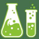 Footer Image of chemistry bottles